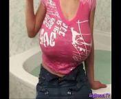 Huge breasts babe teasing hard from merilyn sakova