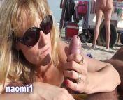Naomi et Nico sur la plage du cap d'agde from naomi sergei nude duo 3