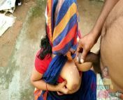 Maid In Blue Saree Suck Owner Dick In Backyad Outdoor He Cum On Her Big Boobs from big boobs bengali actress naked pics