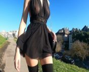 Teaser - Skimpy Black Sheer Dress for a Lovely Day at the Park from goku